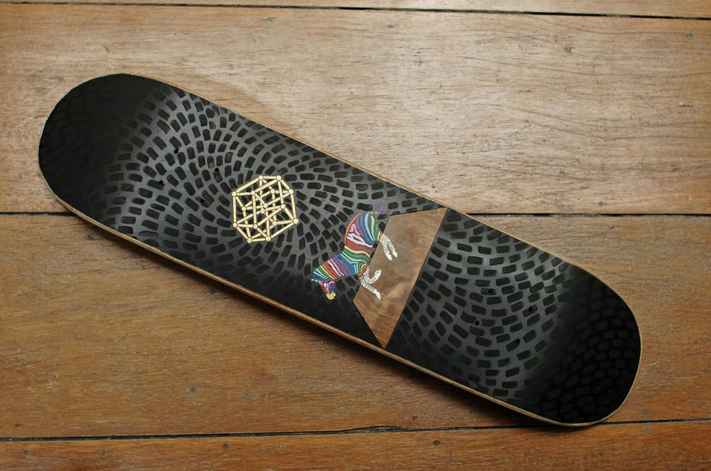 Soy Panday x Posca skateboard
