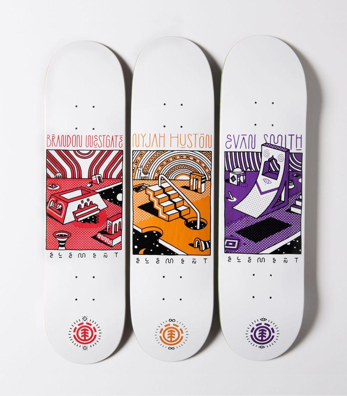 Element x Elna skateboards