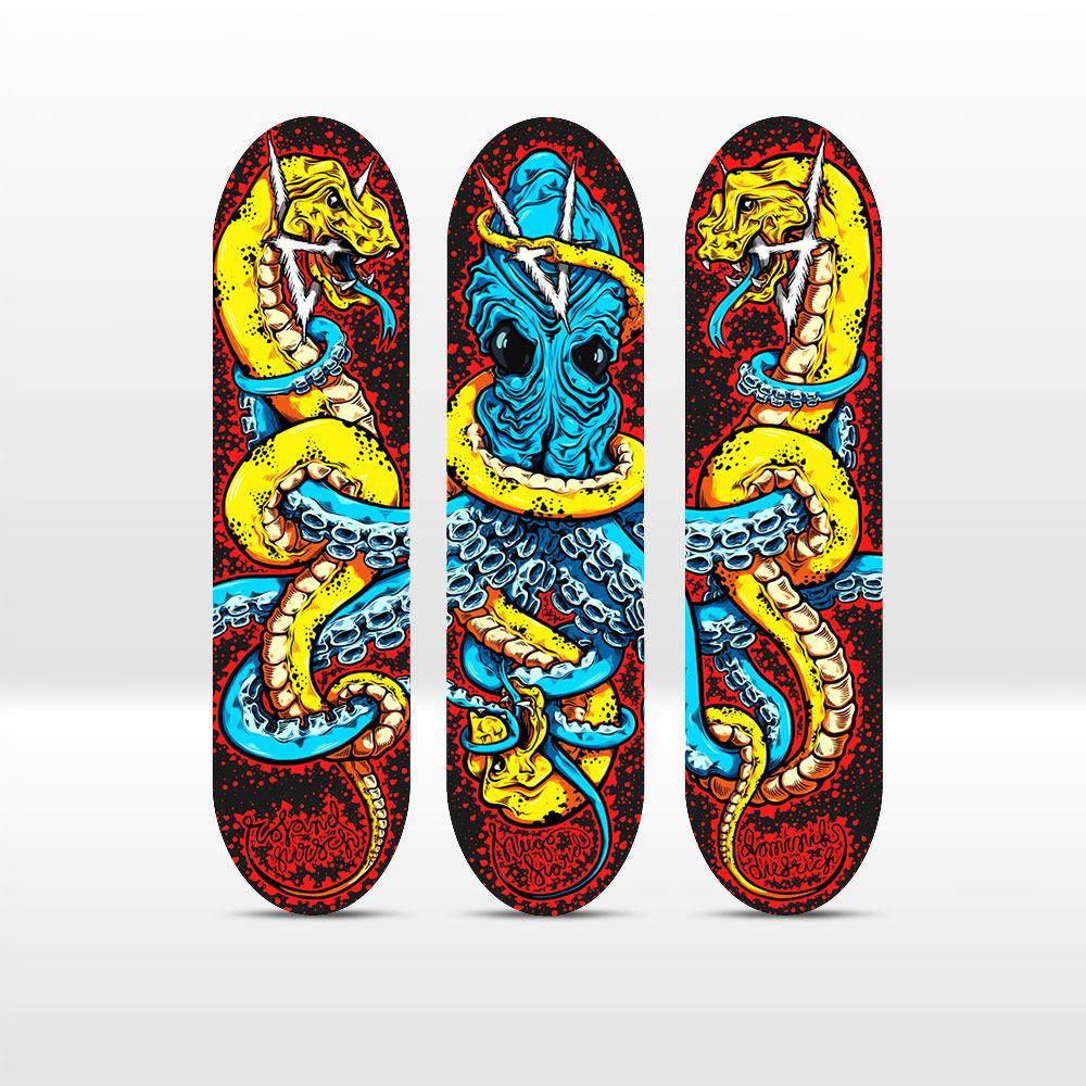 Octopus series by Mikko Rauhamäki x Antiz Skateboards