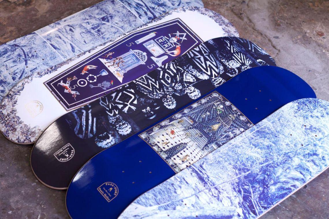 Danie Mellor x AIME x Pass~port skateboard decks