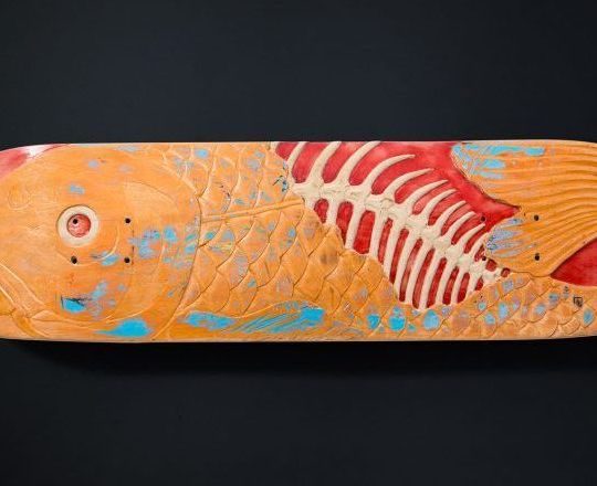 Fish Skateboard Sculpture By Huub Slinger 1
