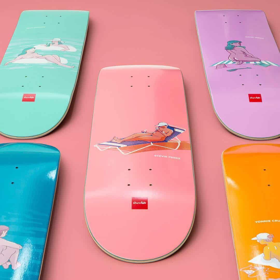 Sunbather Series Chocolate Skateboards 1