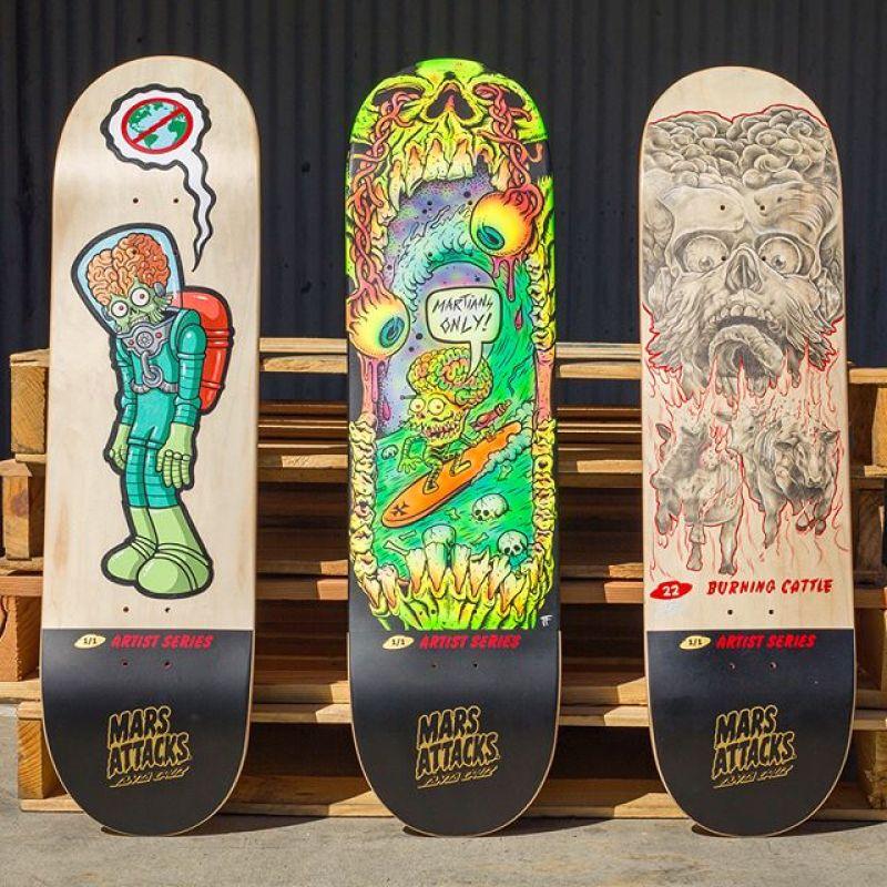 Mars Attack Santa Cruz Skateboard 7