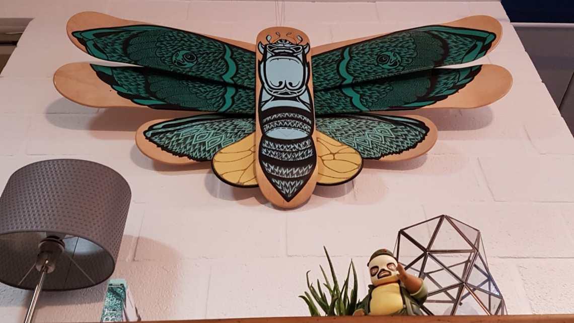 Battarfly Skateboard Sculpture By Mata7ik 3