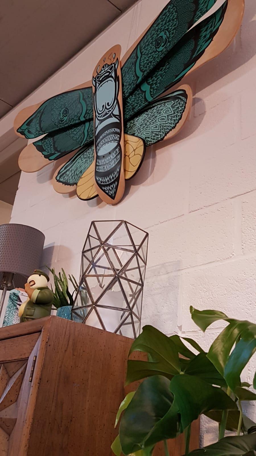 Battarfly Skateboard Sculpture By Mata7ik 5