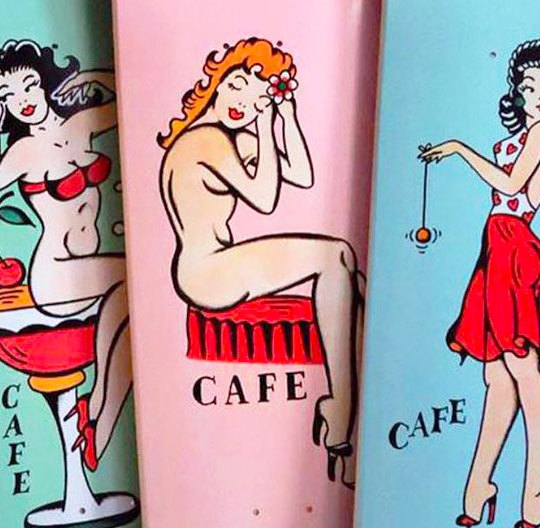 Pinup Series By Jimmie Tattoo Cafe Skateboard