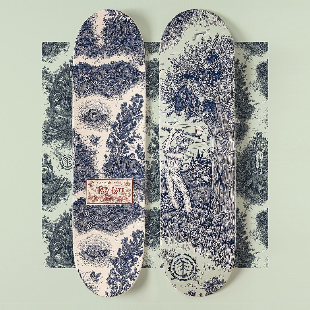 Too Late Series By Timber Element Skateboards 1