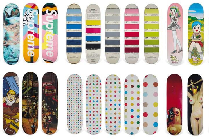 Vente Aux Encheres Skateboard Christies Supreme 1