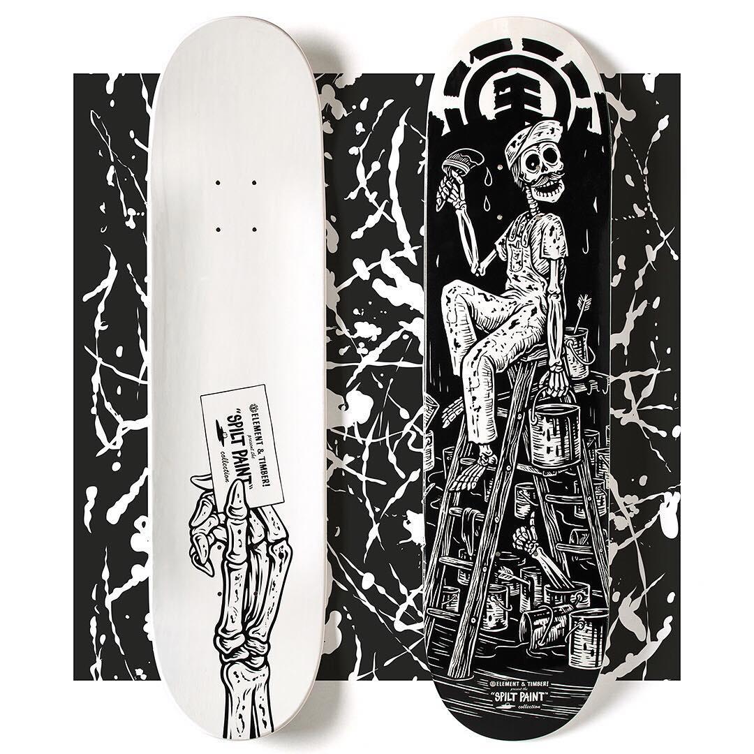 Split Paint Par Timber X Element Skateboards (1)