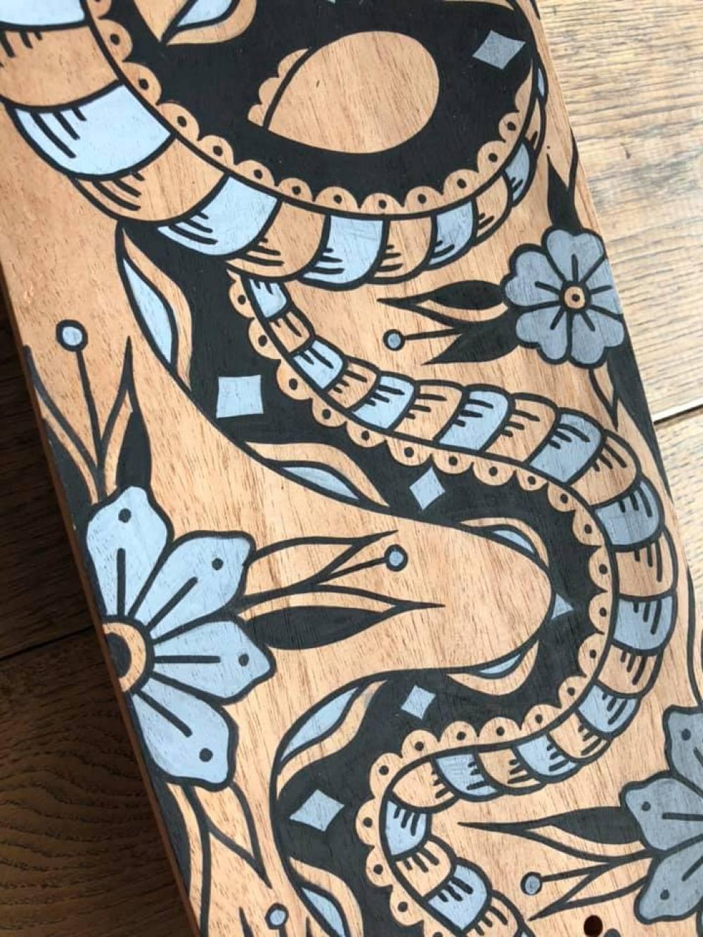 Custom Skateboard By Grom Tattooer 3
