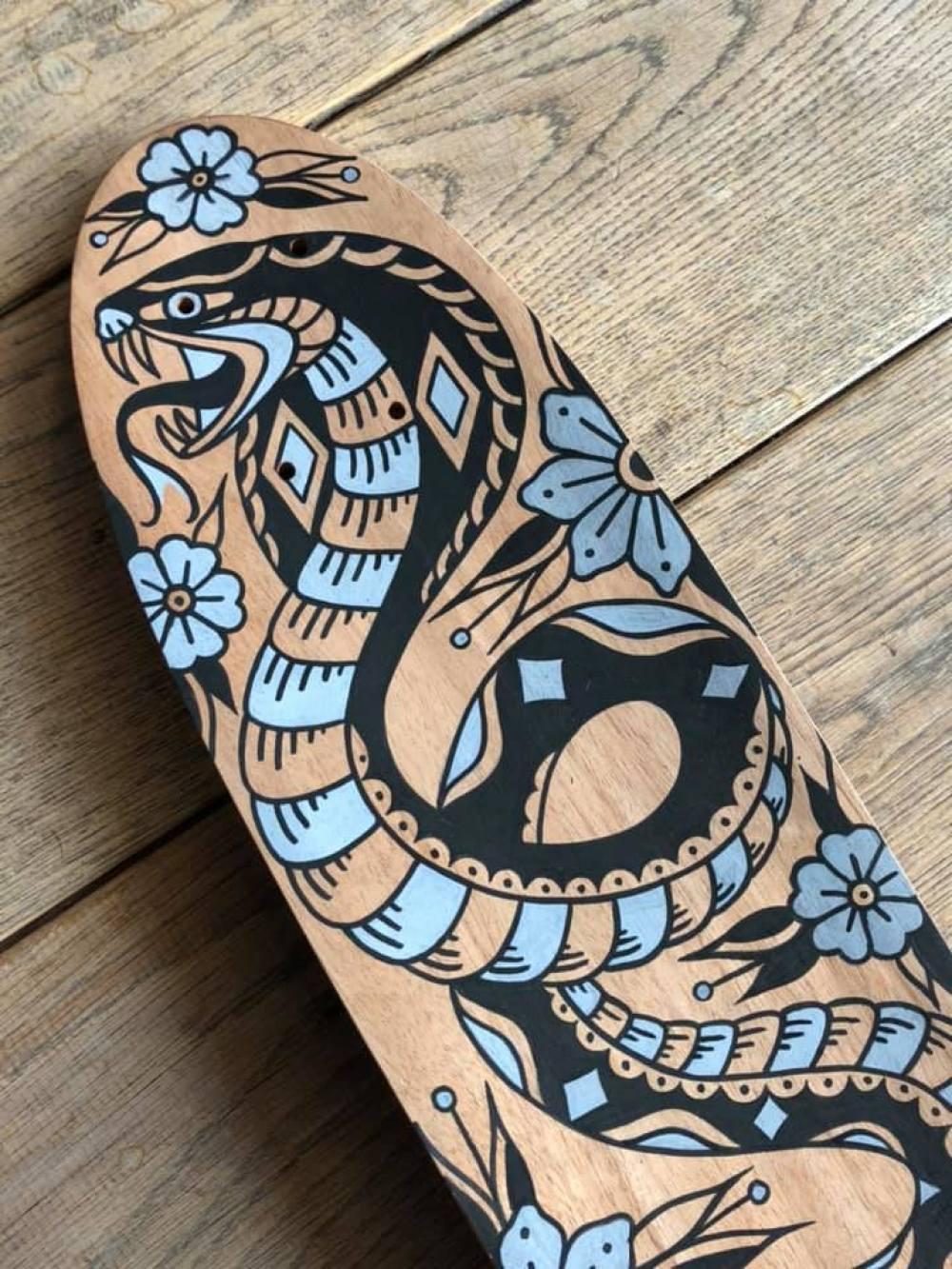 Custom Skateboard By Grom Tattooer 5
