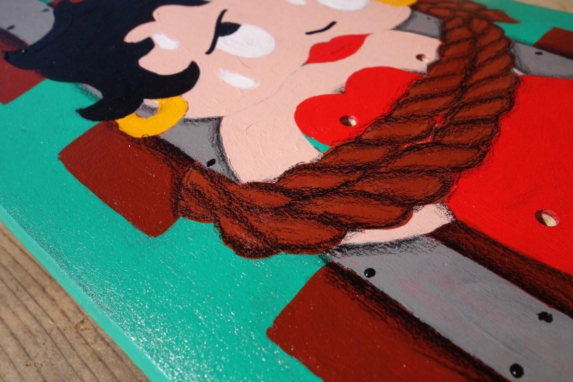 Panic On The Railroad Skateboard By Kid Nowe 2