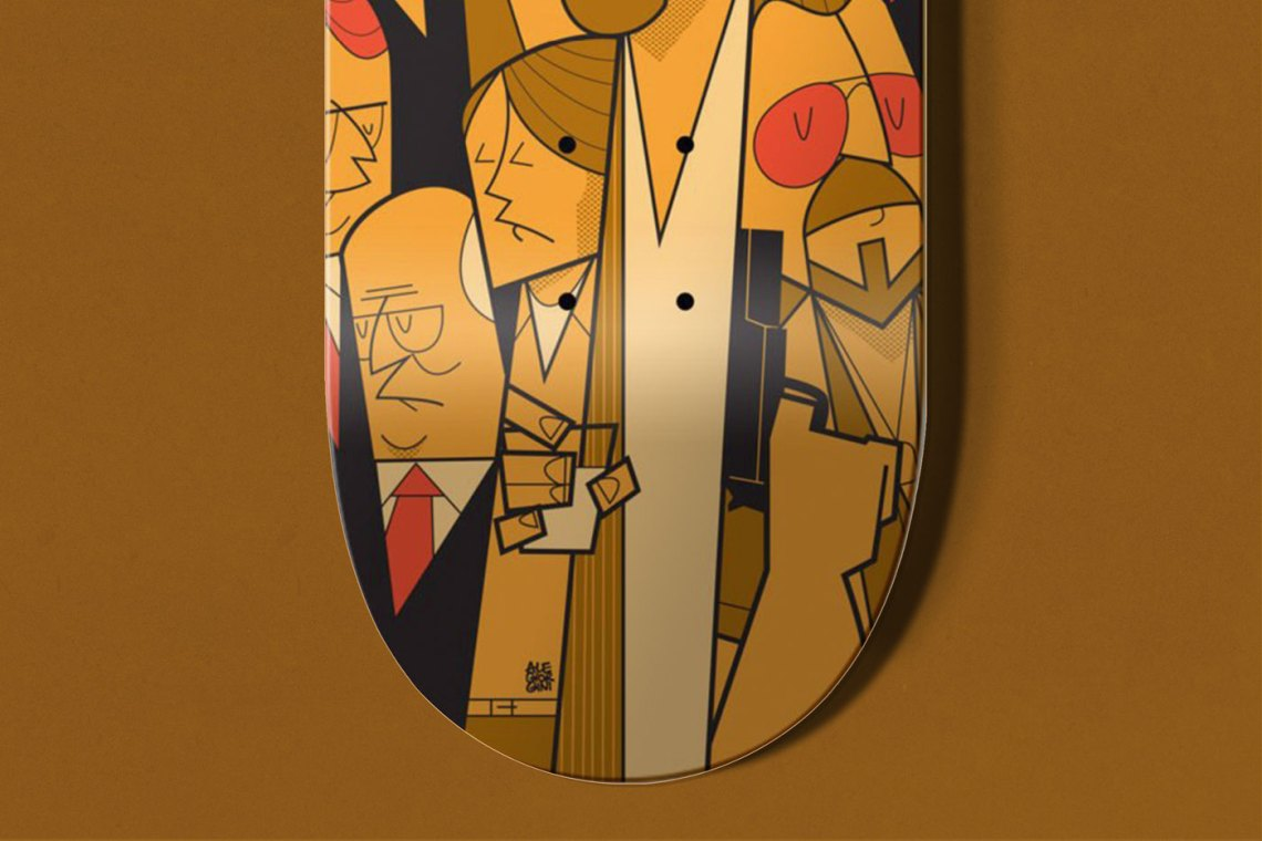 The Big Lebowski Skate Deck By Ale Giorgini X Bonobolabo 3