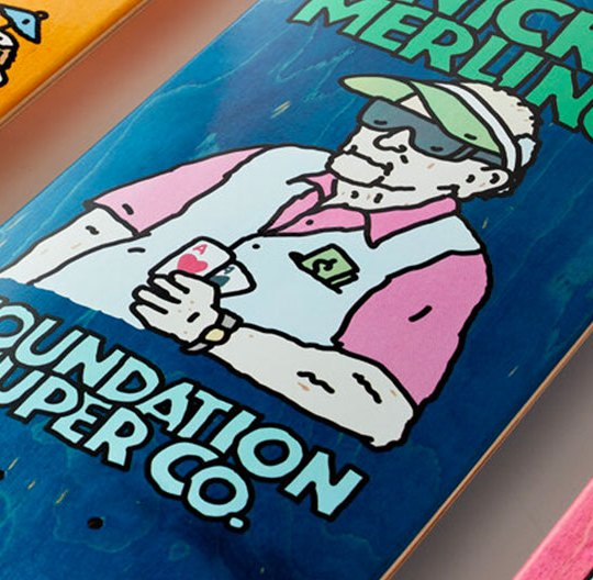 Old Guys Series By Brother Merle X Foundation Skateboards 0
