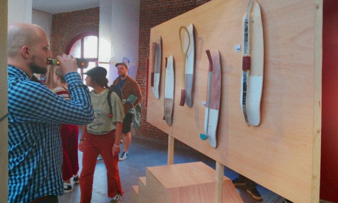 Olympic Street Sports Skateboards Par Thibaut Lamarque Pour L European Custom Board Show 2