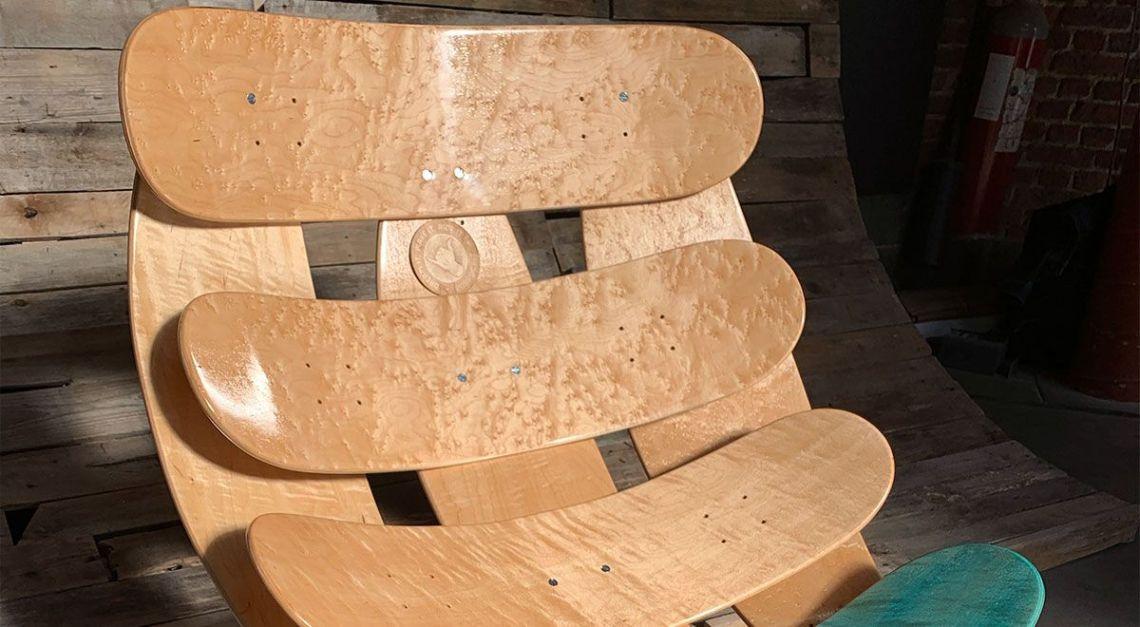 Skate N Chair By Roarockit Europe Pour L European Custom Board Show 5