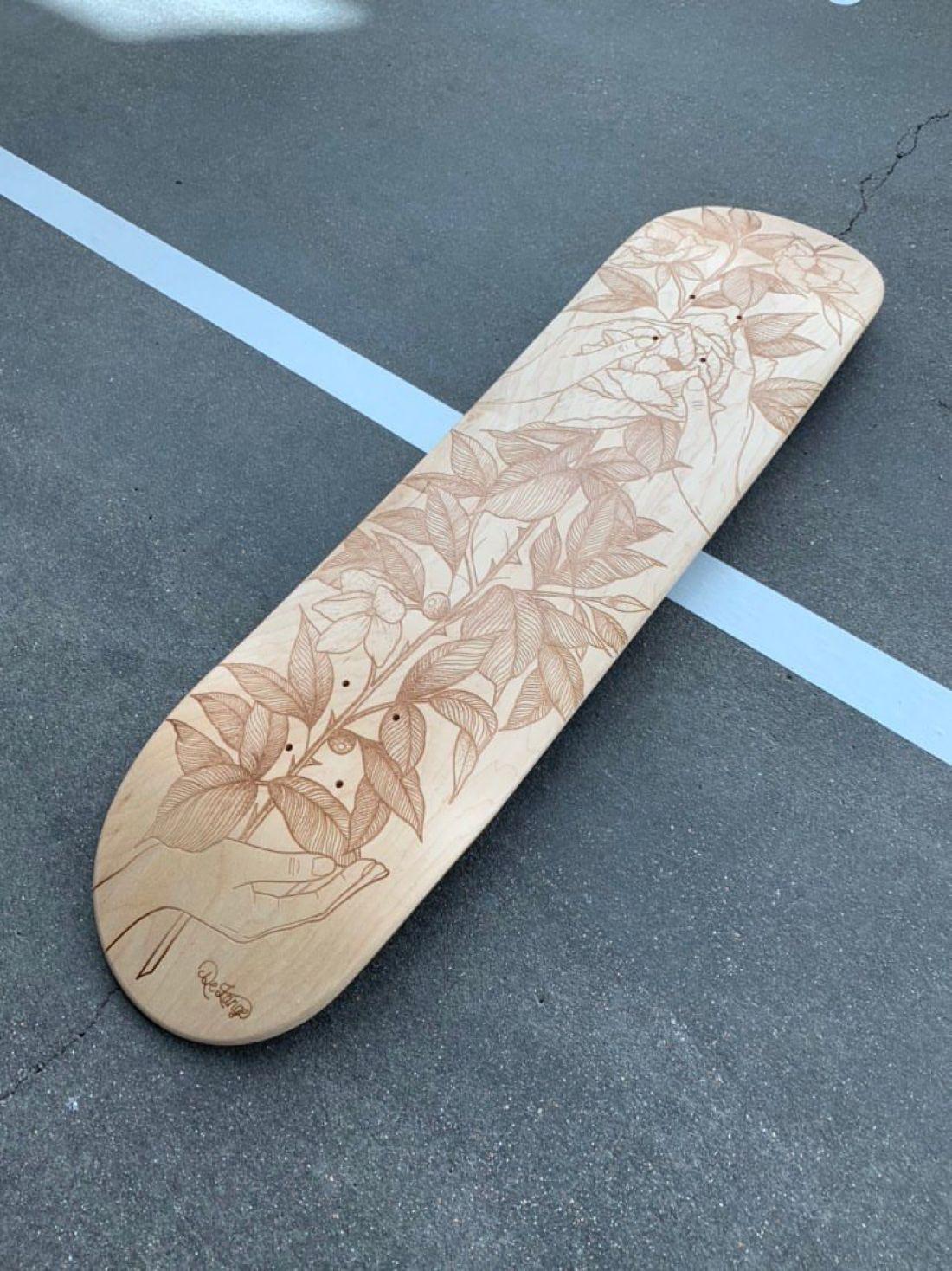 De Lange X Le Shape Engraved Skateboard 3