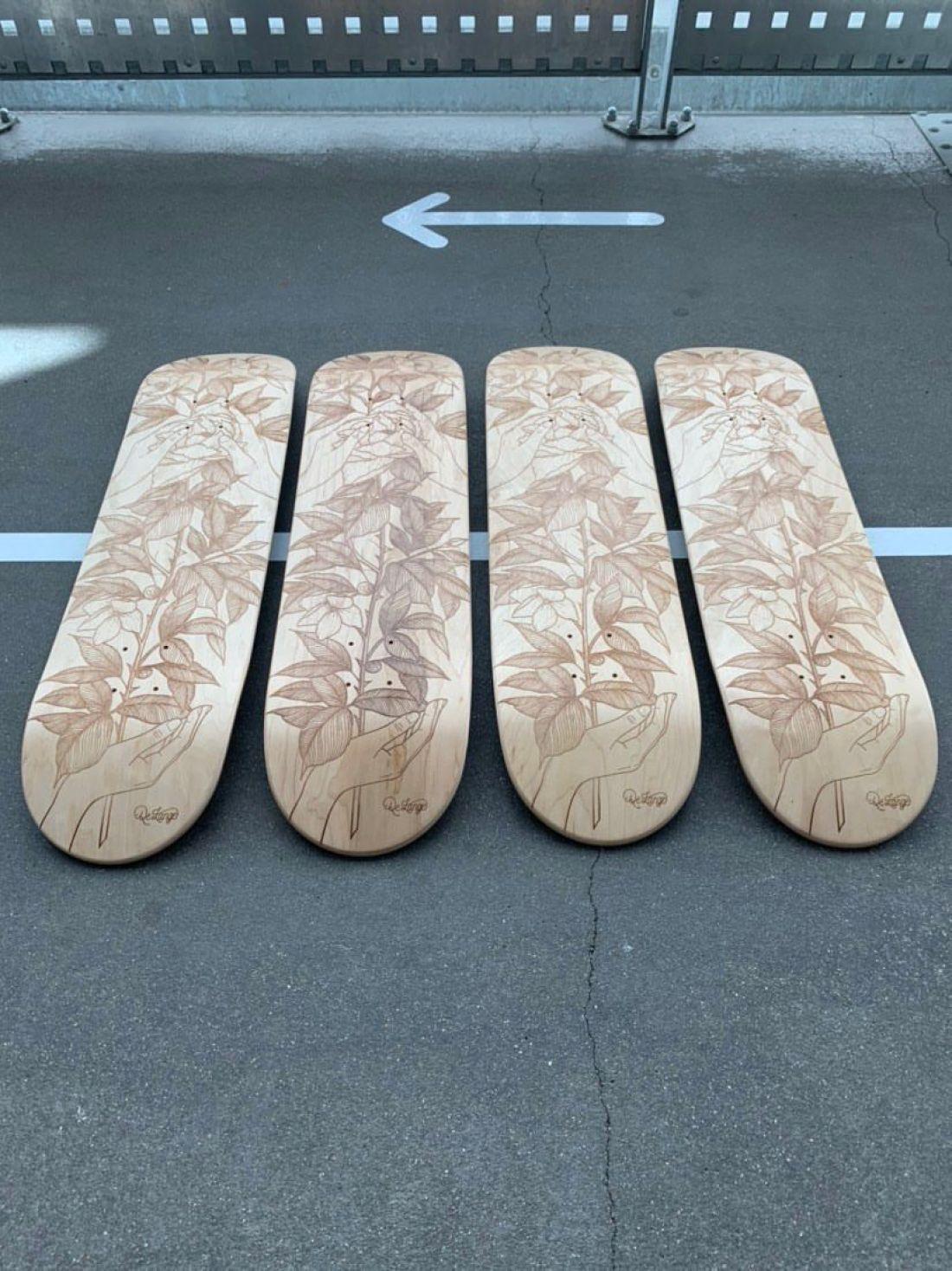 De Lange X Le Shape Engraved Skateboard 7