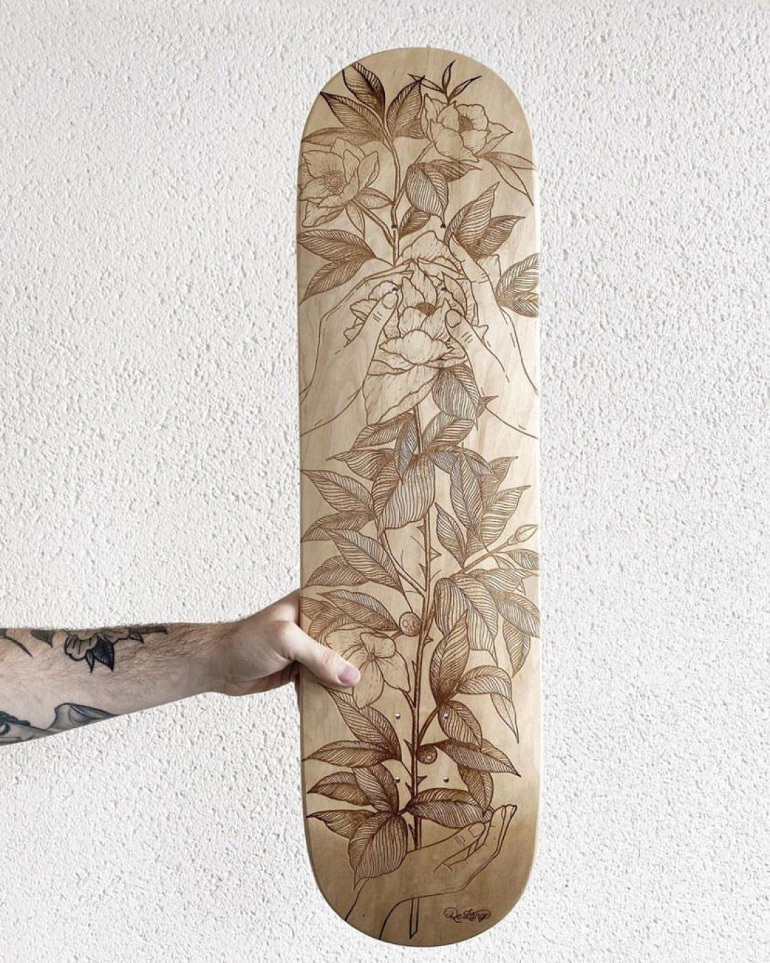 De Lange X Le Shape Engraved Skateboard 9