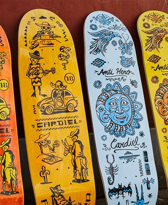 Muerte Supermo And Viva Decks Par Thorsten Schmidt X Anti Hero Skateboards