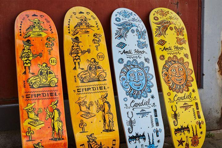 Muerte Supermo And Viva Decks Par Thorsten Schmidt X Anti Hero Skateboards