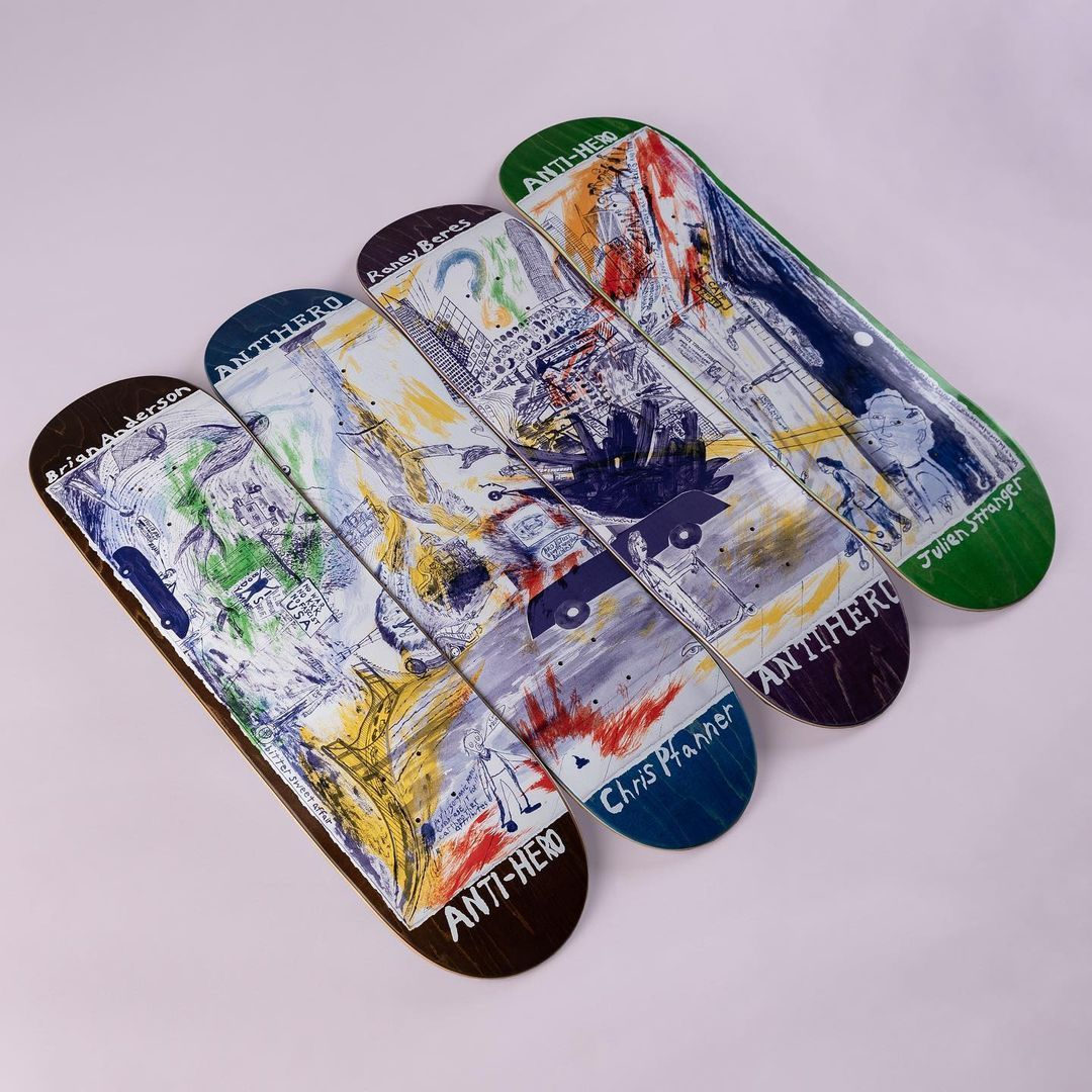 Sf Then And Now Series Par Chris Johanson X Anti Hero Skateboards 4