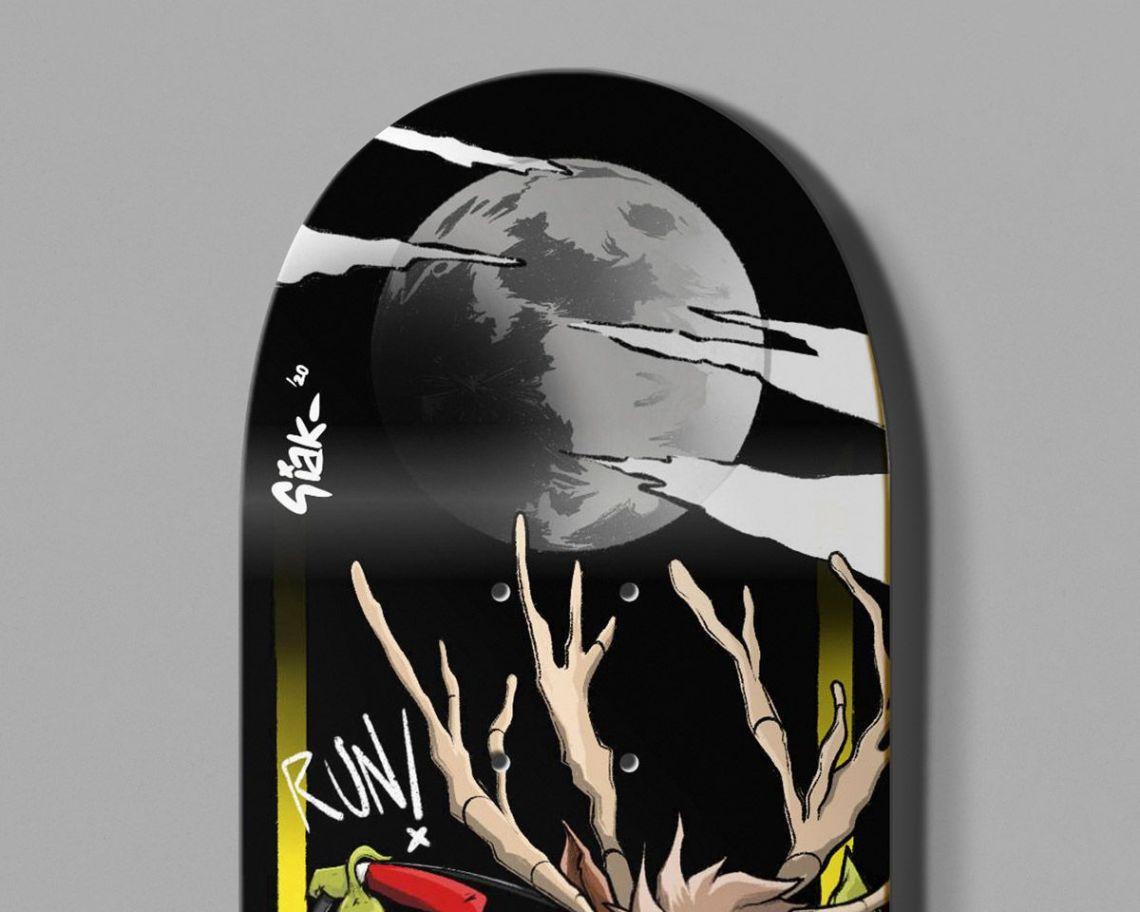 Retired Skateboard By Theevilart X Bonobolabo 4