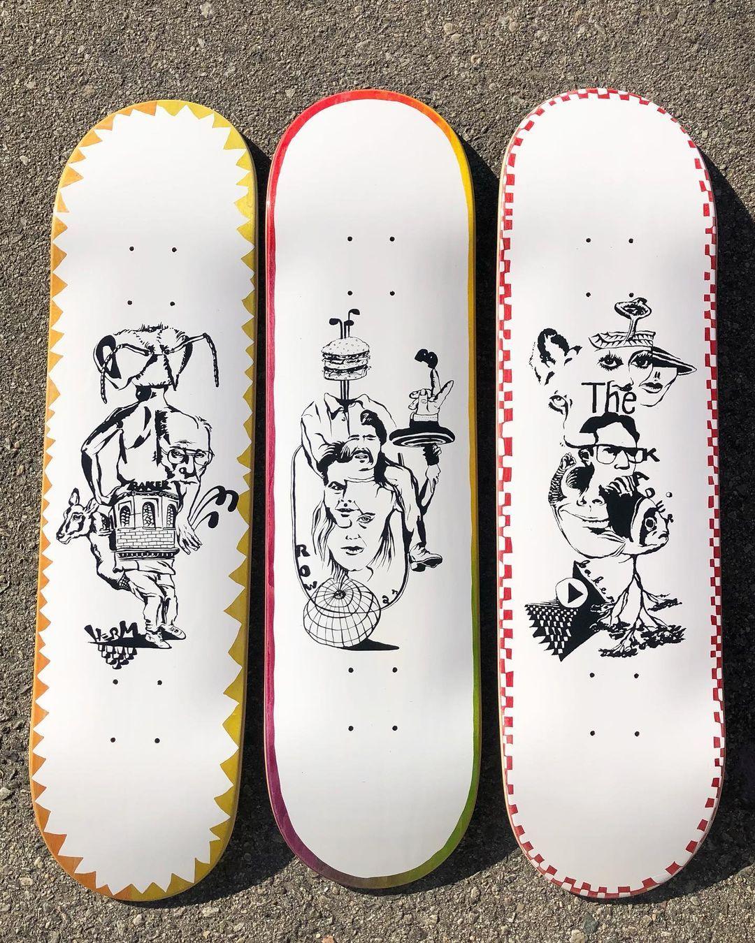 Daydreams Series Par Kevin Spanky Long X Baker Skateboards.3