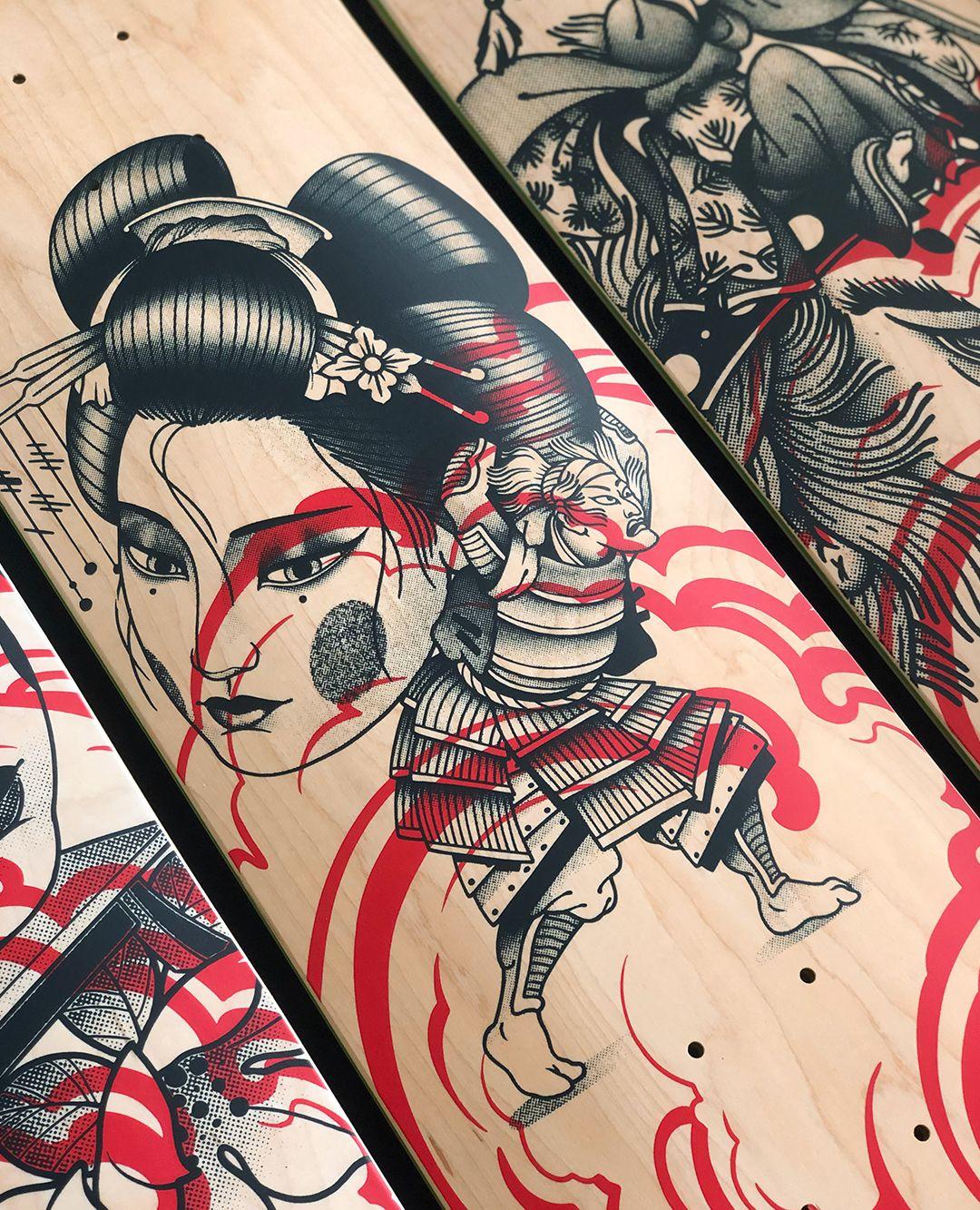 Geisha Series By Plot X Doble Skateboards 11
