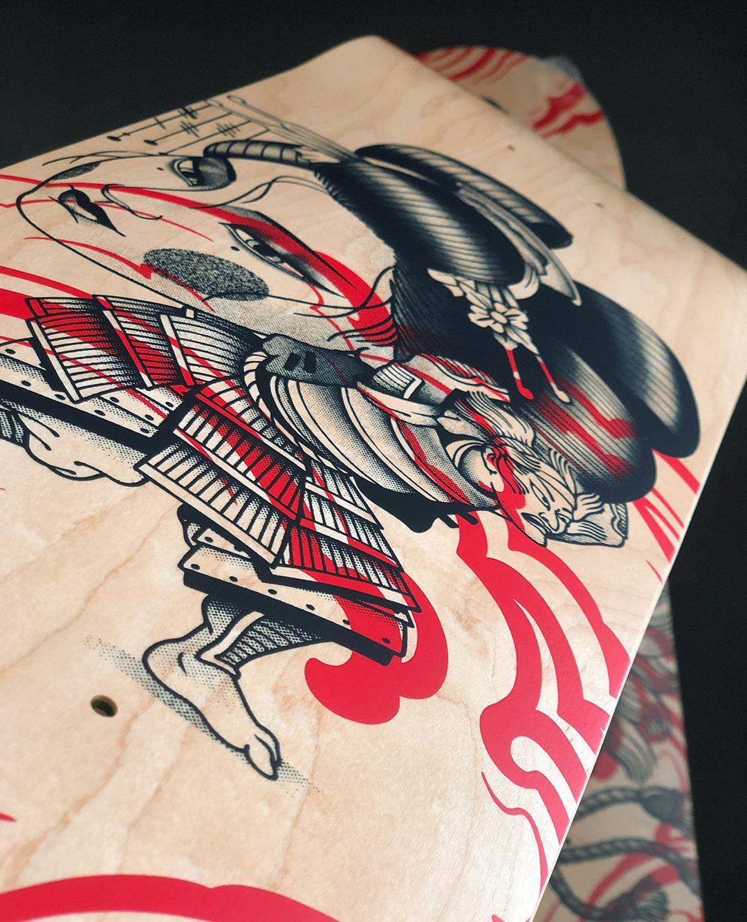 Geisha Series By Plot X Doble Skateboards 14