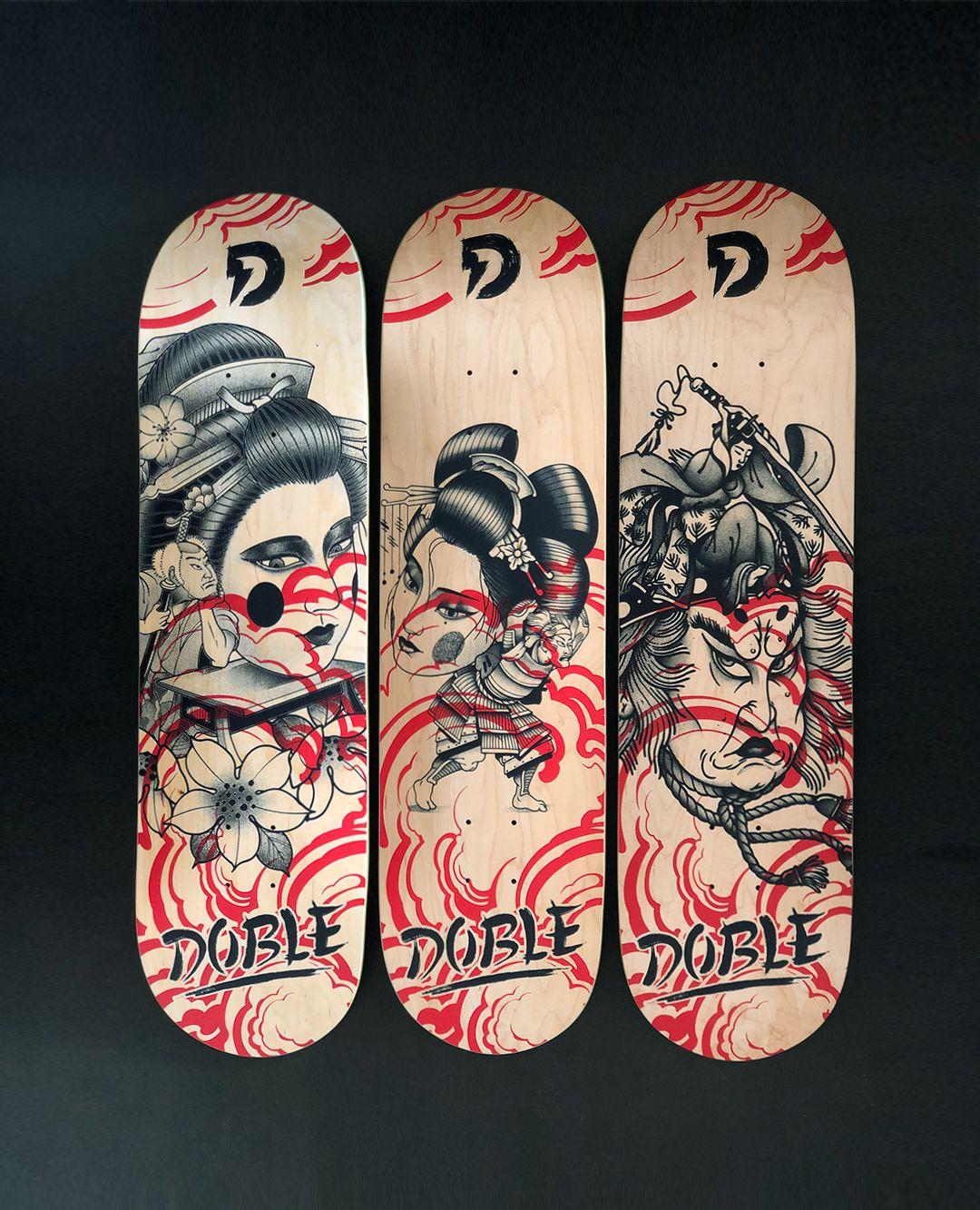 Geisha Series By Plot X Doble Skateboards 2
