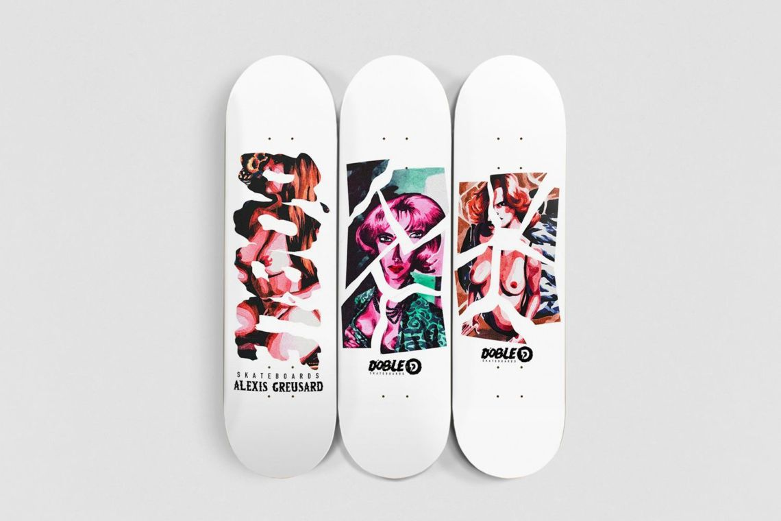 Aquarelle Series By Quentin Caillat X Doble Skateboards 2