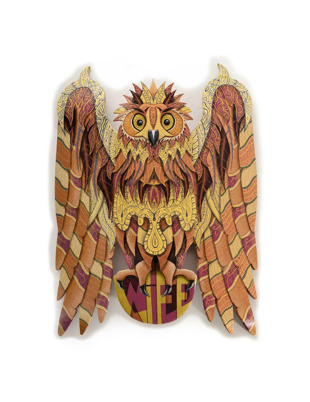 Owl Wild Life Skate Sculpture By Julien Feniau 1