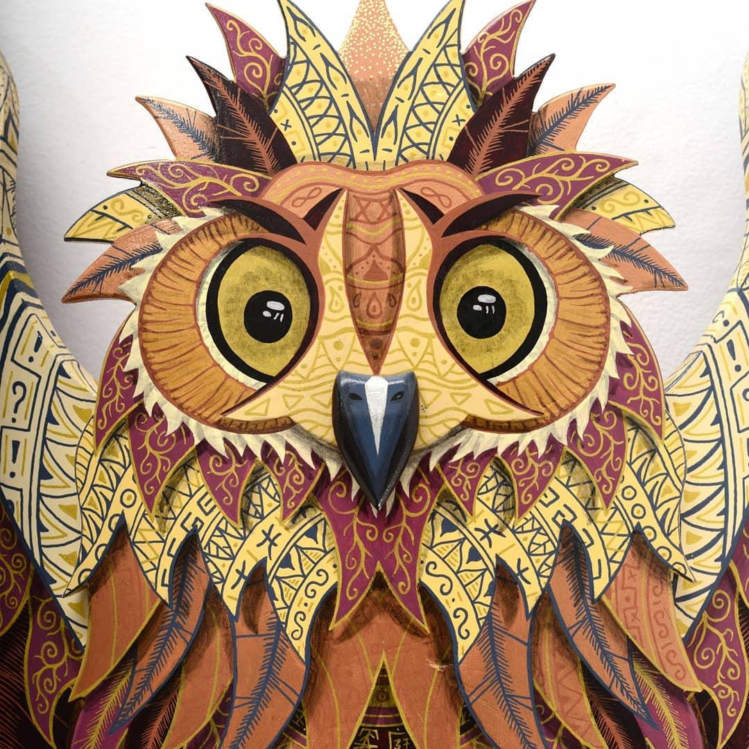 Owl Wild Life Skate Sculpture By Julien Feniau 2