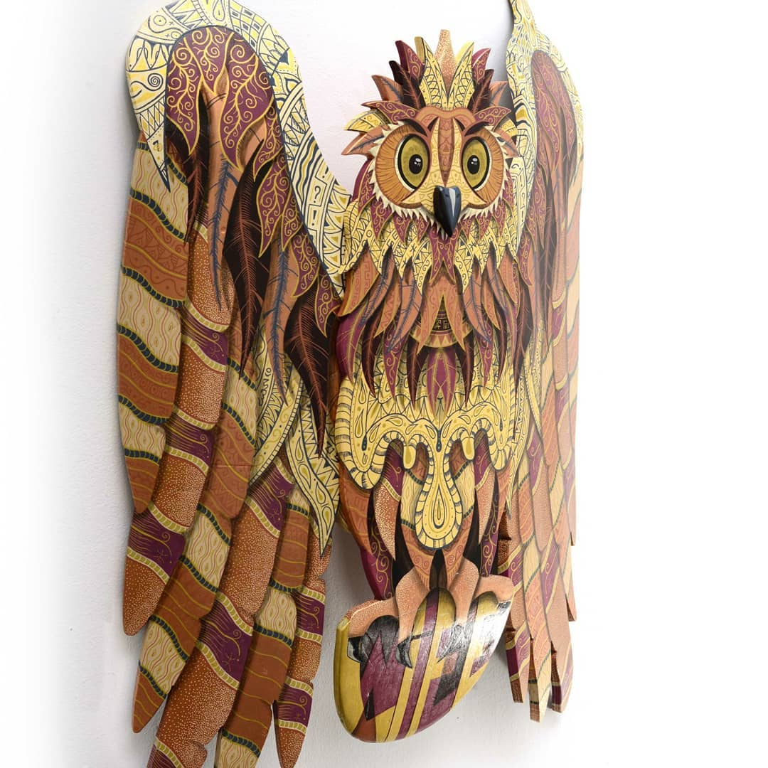 Owl Wild Life Skate Sculpture By Julien Feniau 4
