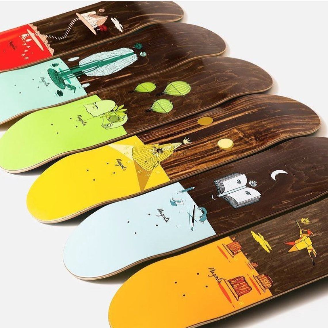 Landscape Series By Soy Panday For Magenta Skateboards 7