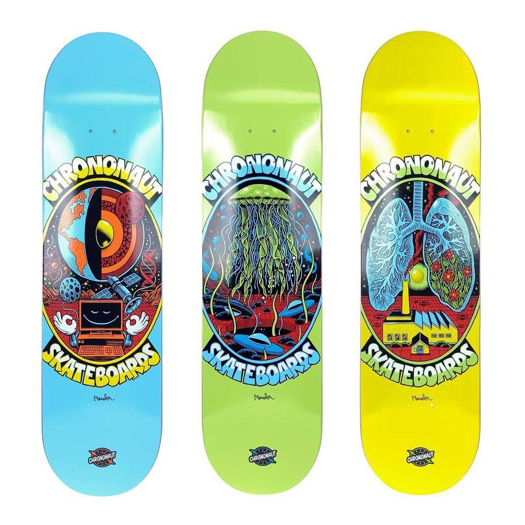 Pegasus Series By Mander X Chrononaut Skateboards 2