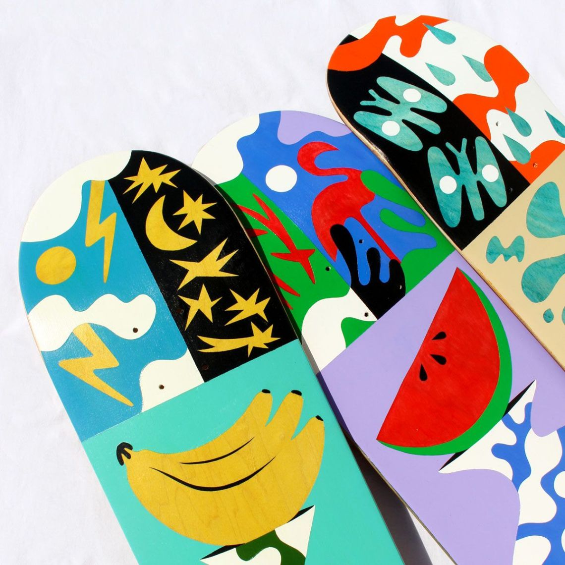 Custom Skateboards By Bart Lanzini For The European Custom Board Show 3