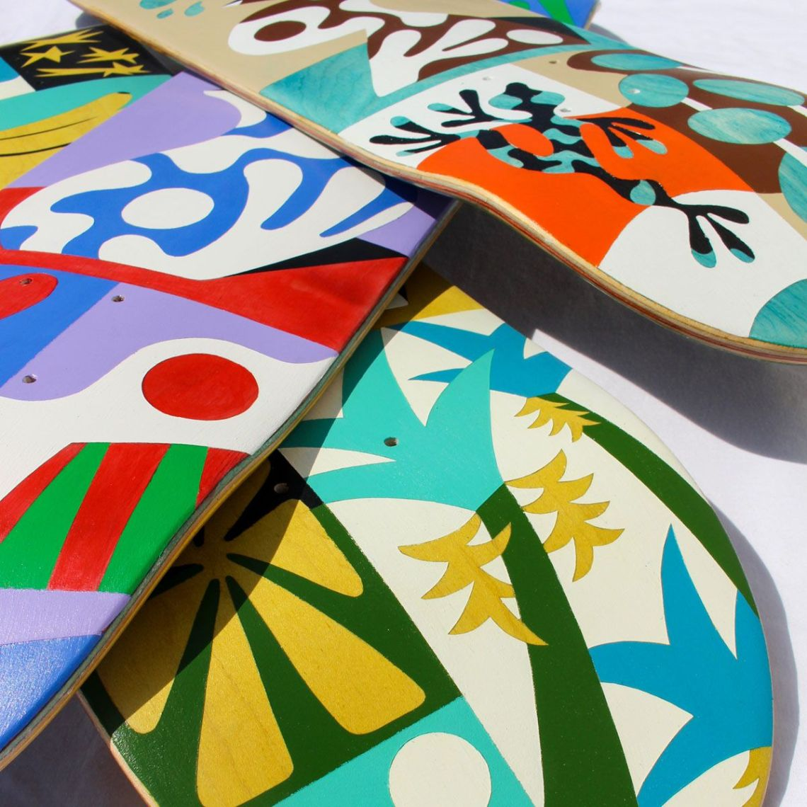 Custom Skateboards By Bart Lanzini For The European Custom Board Show 4