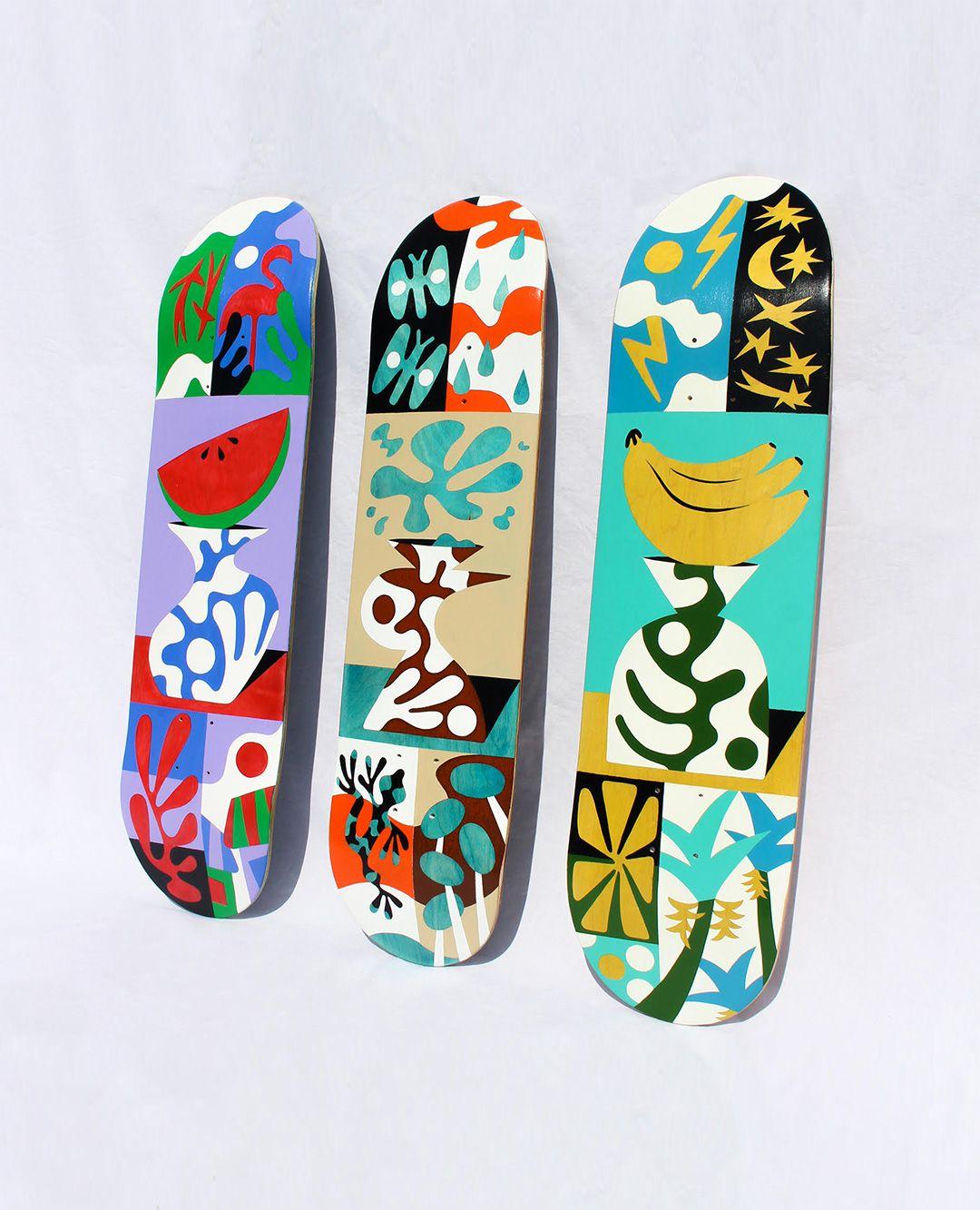 Custom Skateboards By Bart Lanzini For The European Custom Board Show 8