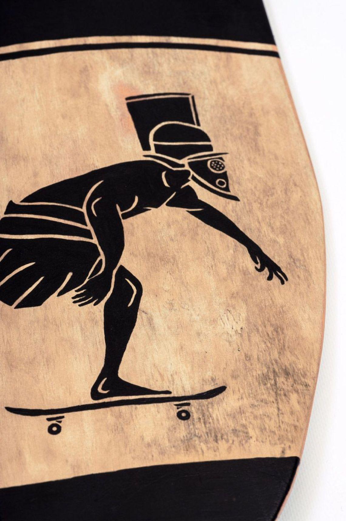 Skunus Gladiatorium Skate Sculpture By Rom Avjc 13