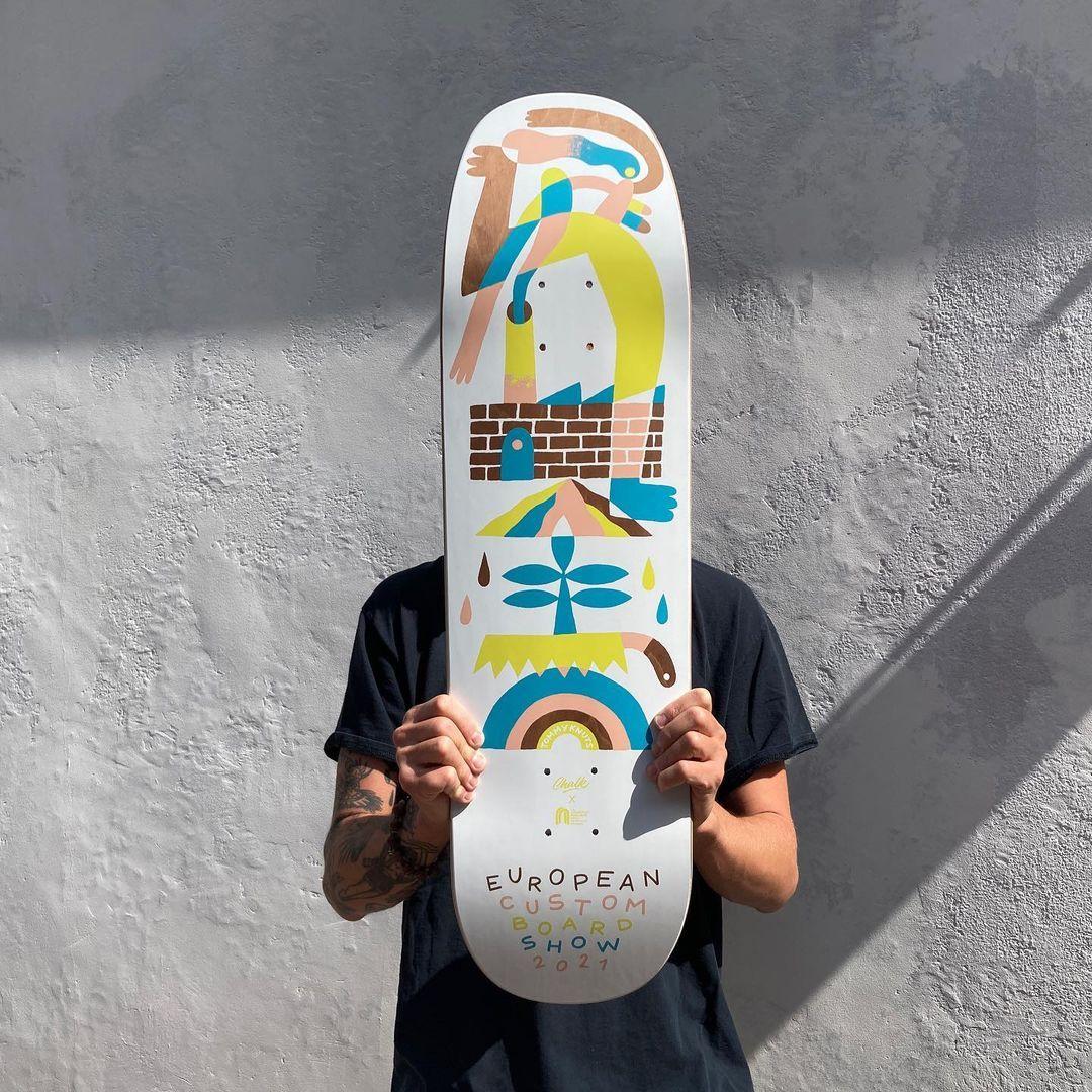 Tommy Knuts X Chalk Custom Board X Decathlon Skateboarding 2