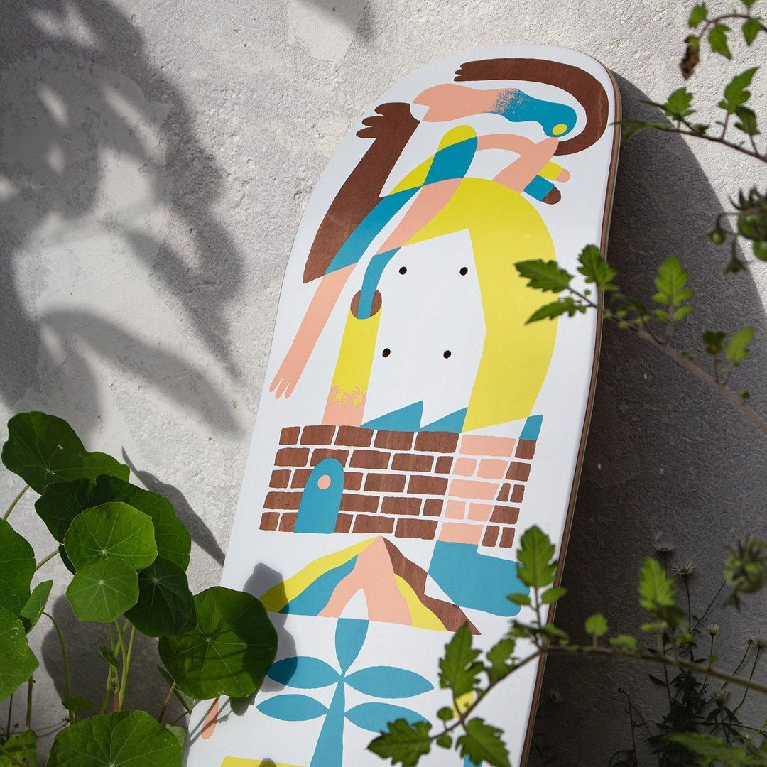 Tommy Knuts X Chalk Custom Board X Decathlon Skateboarding 3