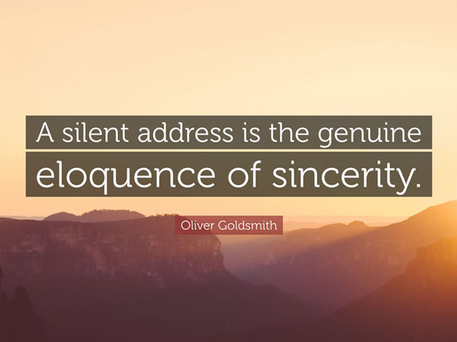 Sincerity & Eloquence. . .