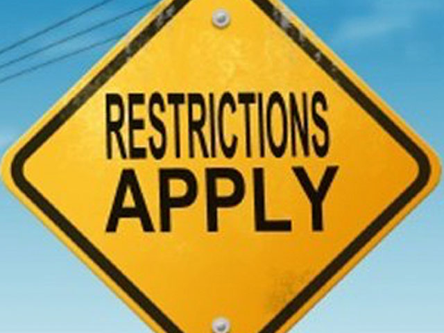 Restrictions. . .