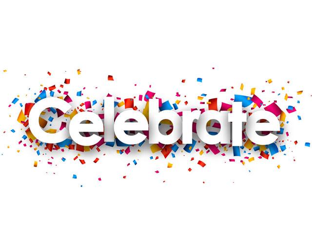 Celebrate. . .