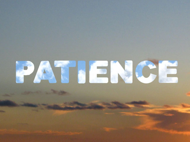 Patience. . .