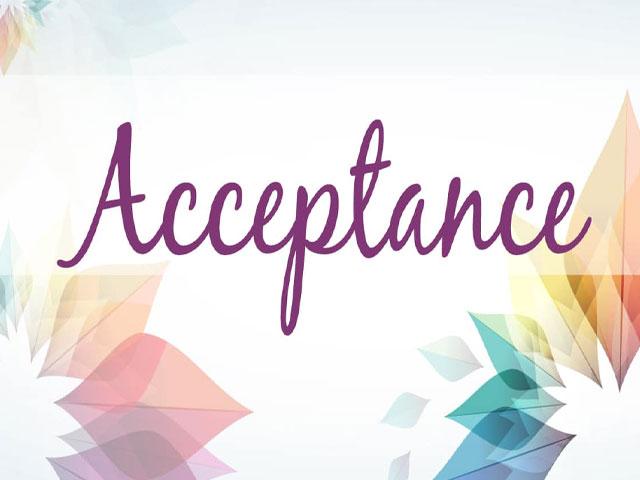 Acceptance. . .