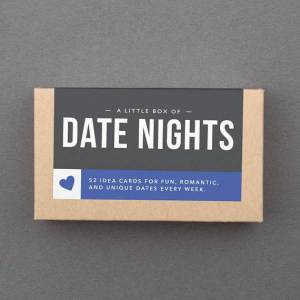"Valentine Gift for Boyfriend, Him, Husband, Girlfriend, Her, Woman, Wife. Romantic, Sexy, Funny, Love, Sweet, Box. ""Date Night"" (L5DAT)"