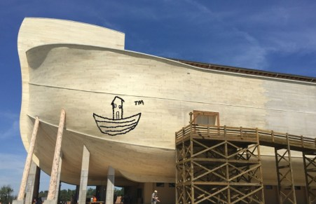Offensive: A Vandal Spray-Painted A Stupid Boat On The Ark…